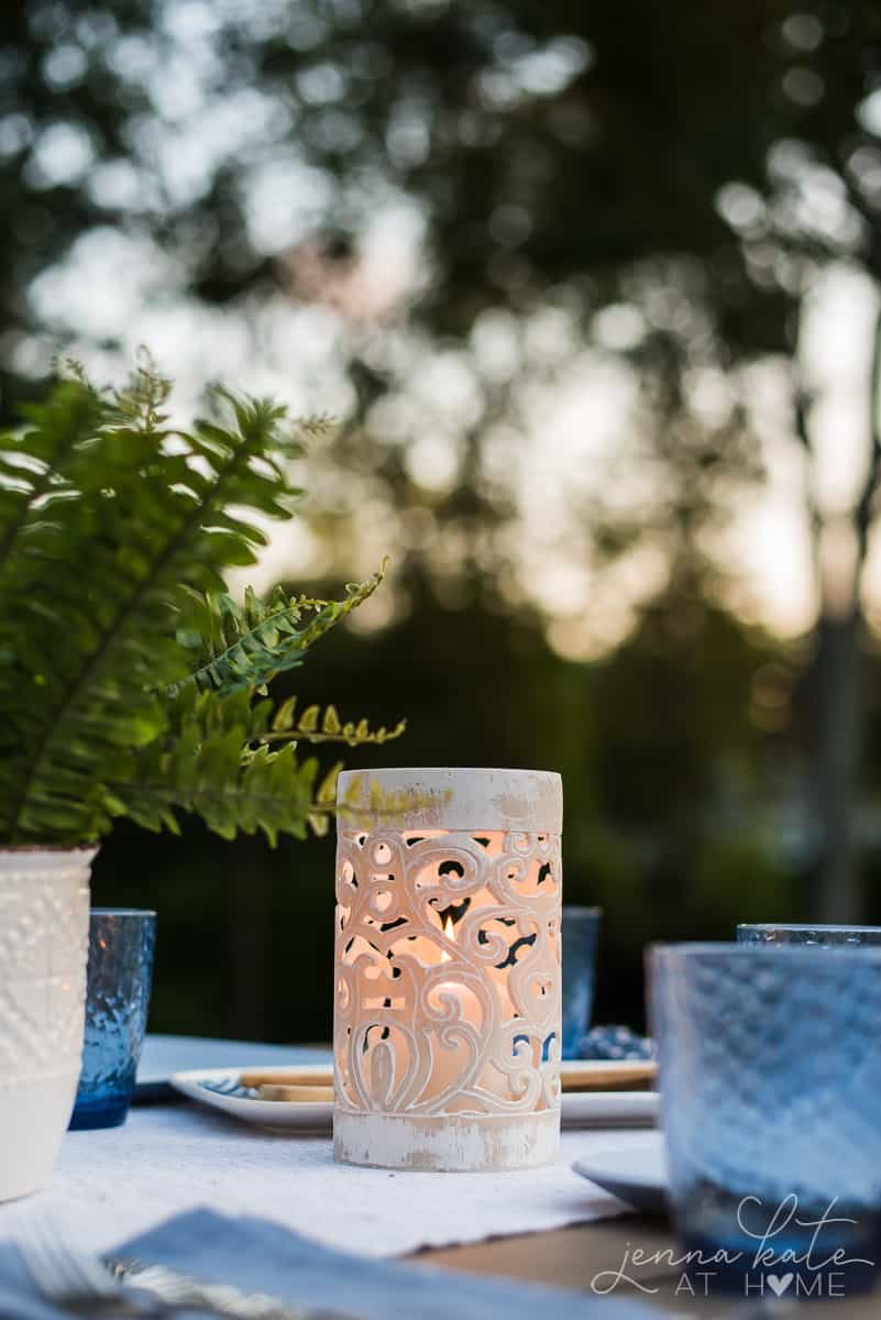 Coastal and boho inspired patio decor