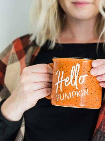 DIY personalized fall mug
