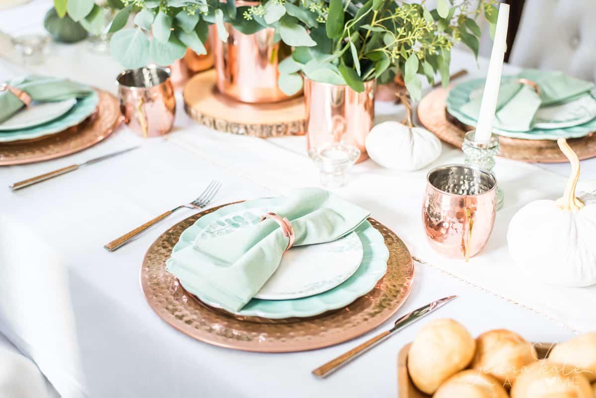 Elegant fall tablescape ideas