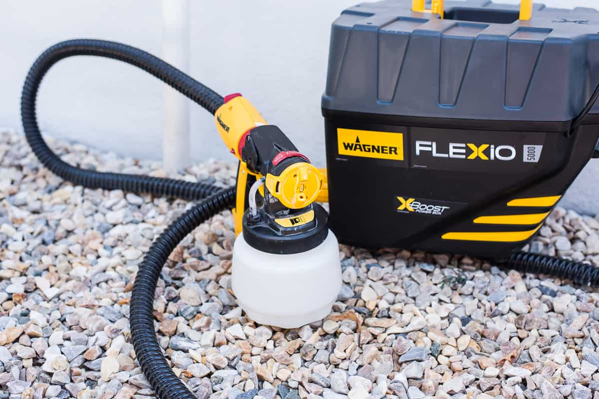 The Wanger Flexio 5000 is the perfect spray paint gun for DIY projects like painting house foundation