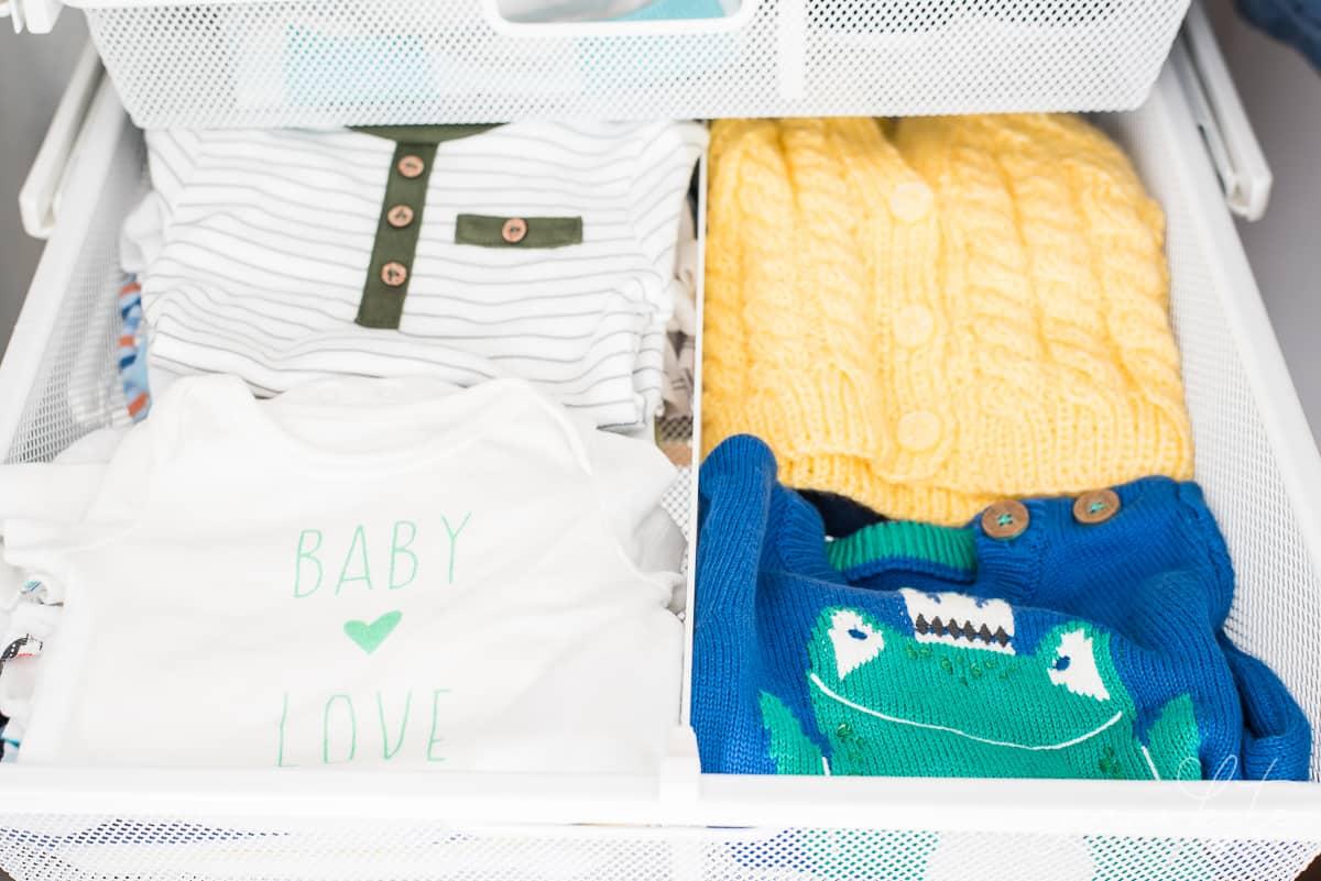 Adding drawers to a small nursery closet