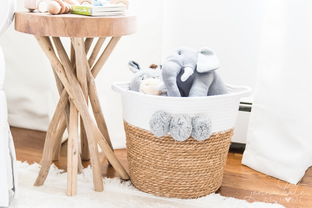 Coastal nursery decor that will work for either a baby boy or girl. Simple, bright and the perfect room for them to grow into!