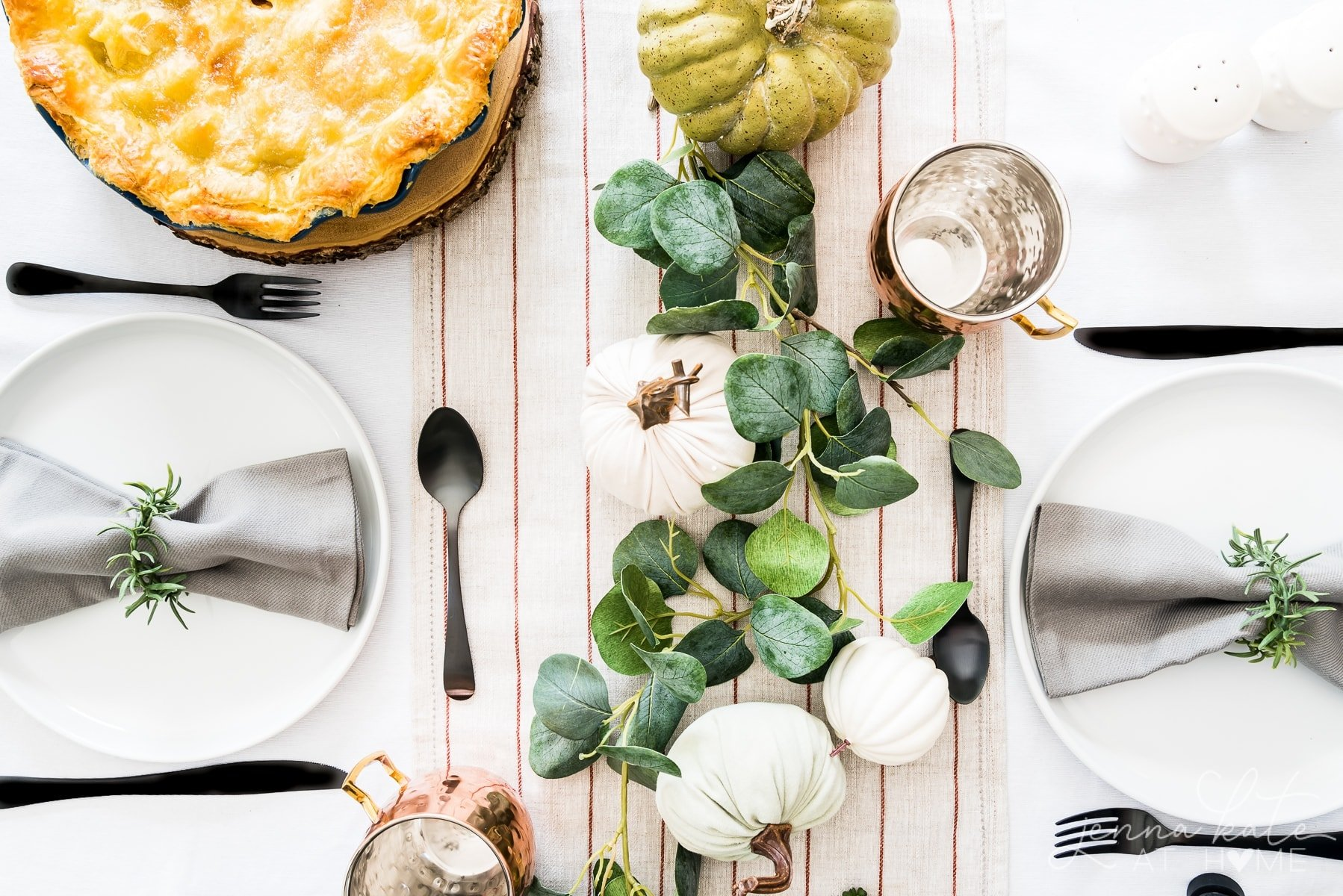 Fall table decor from Walmart