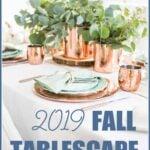 2019 fall table setting Pinterest