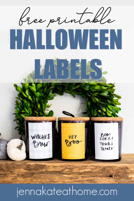 free printable halloween labels