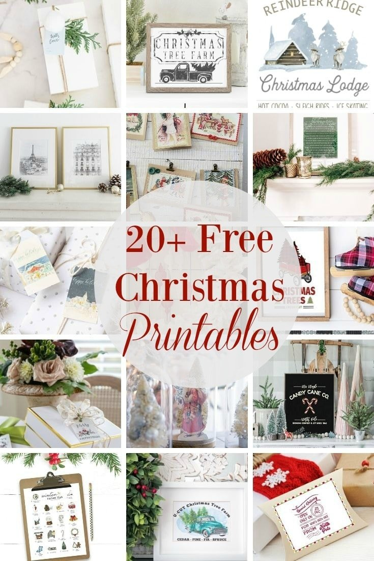 20 beautiful Christmas printables for you to use at home