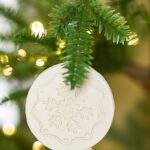 Easy DIY christmas ornaments for kids and toddlers from air dry clay. So fun to make as a family!