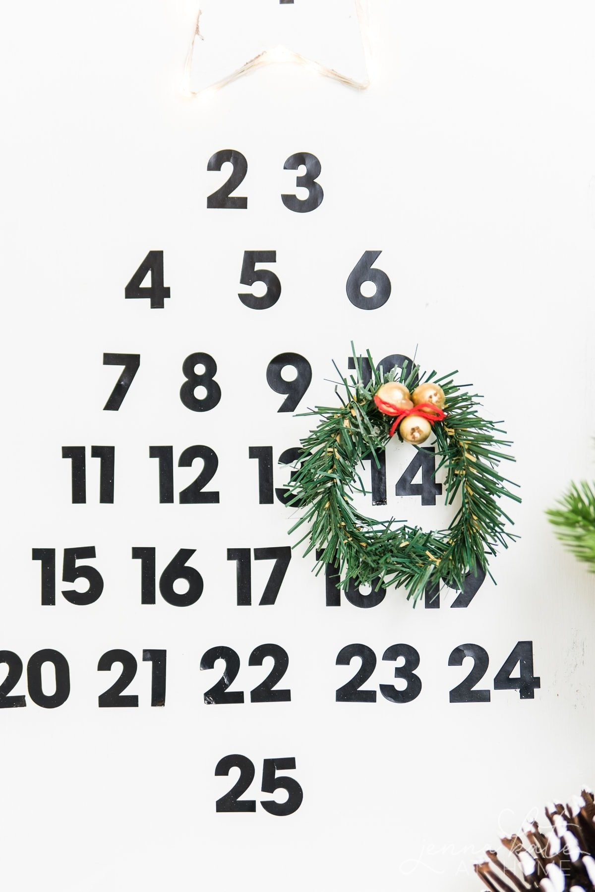 This simple DIY wooden advent calendar is such a fun project for the kids to help with