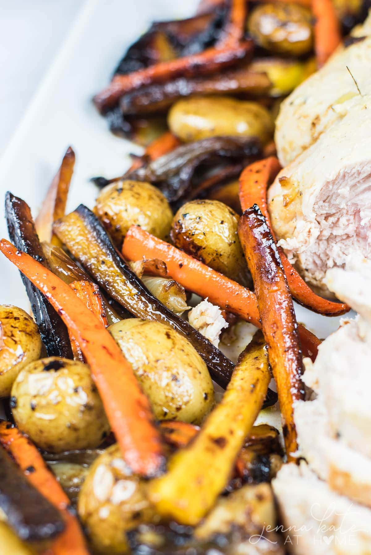 These roasted root vegetables are the perfect side to serve along a roasted turkey breast