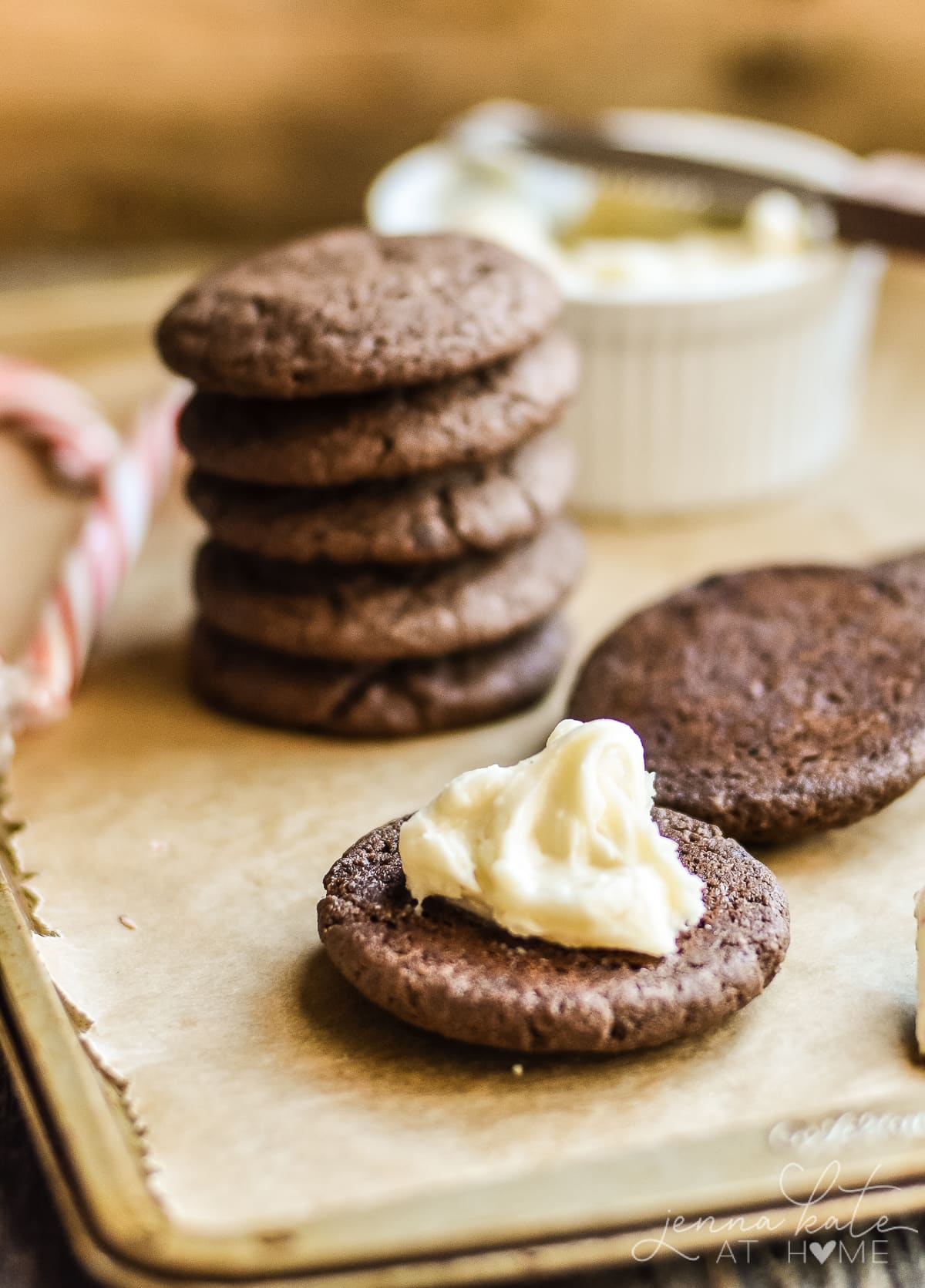 The best ever chocolate sandwich cookies for Christmas