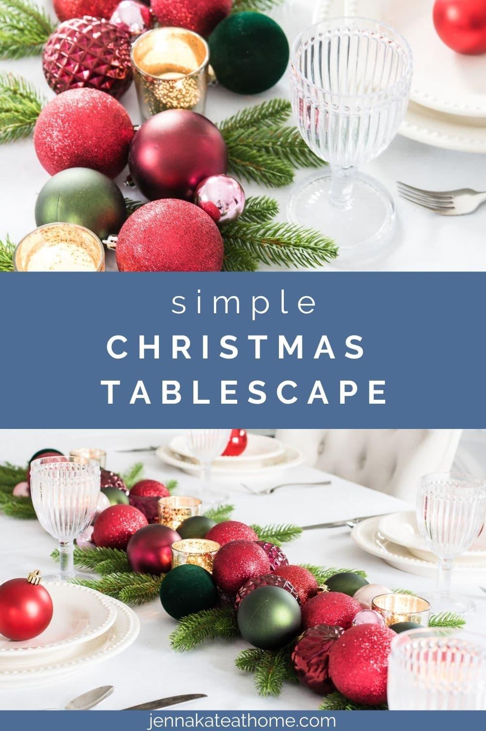 simple last minute Christmas table setting