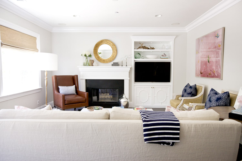 Behr Silver Drop living room