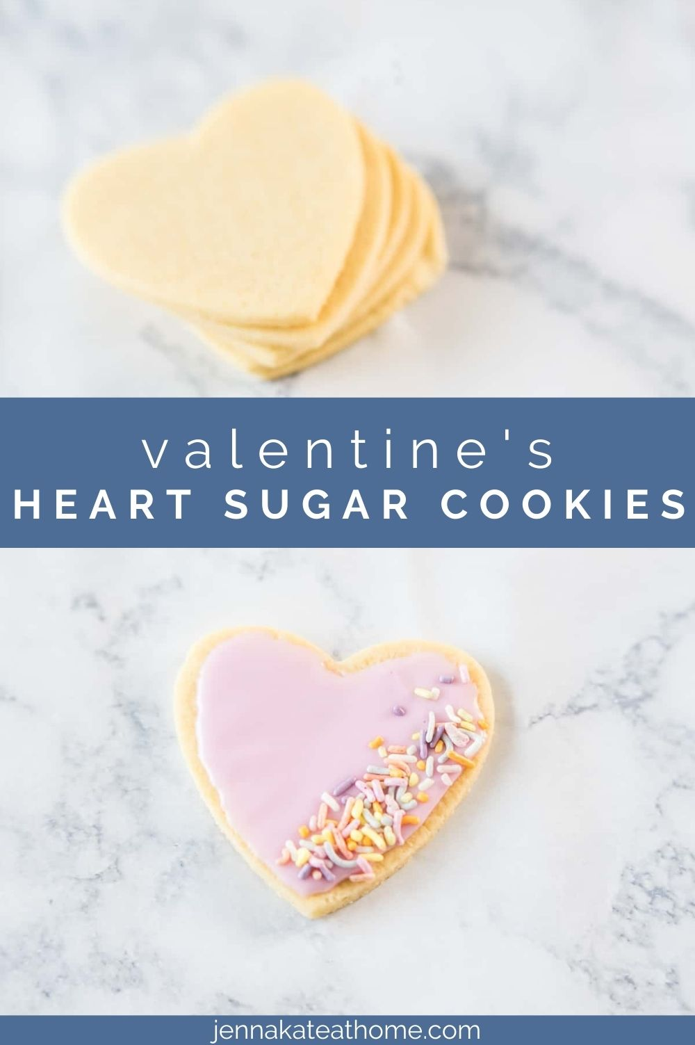 valentines heart shaped sugar cookies