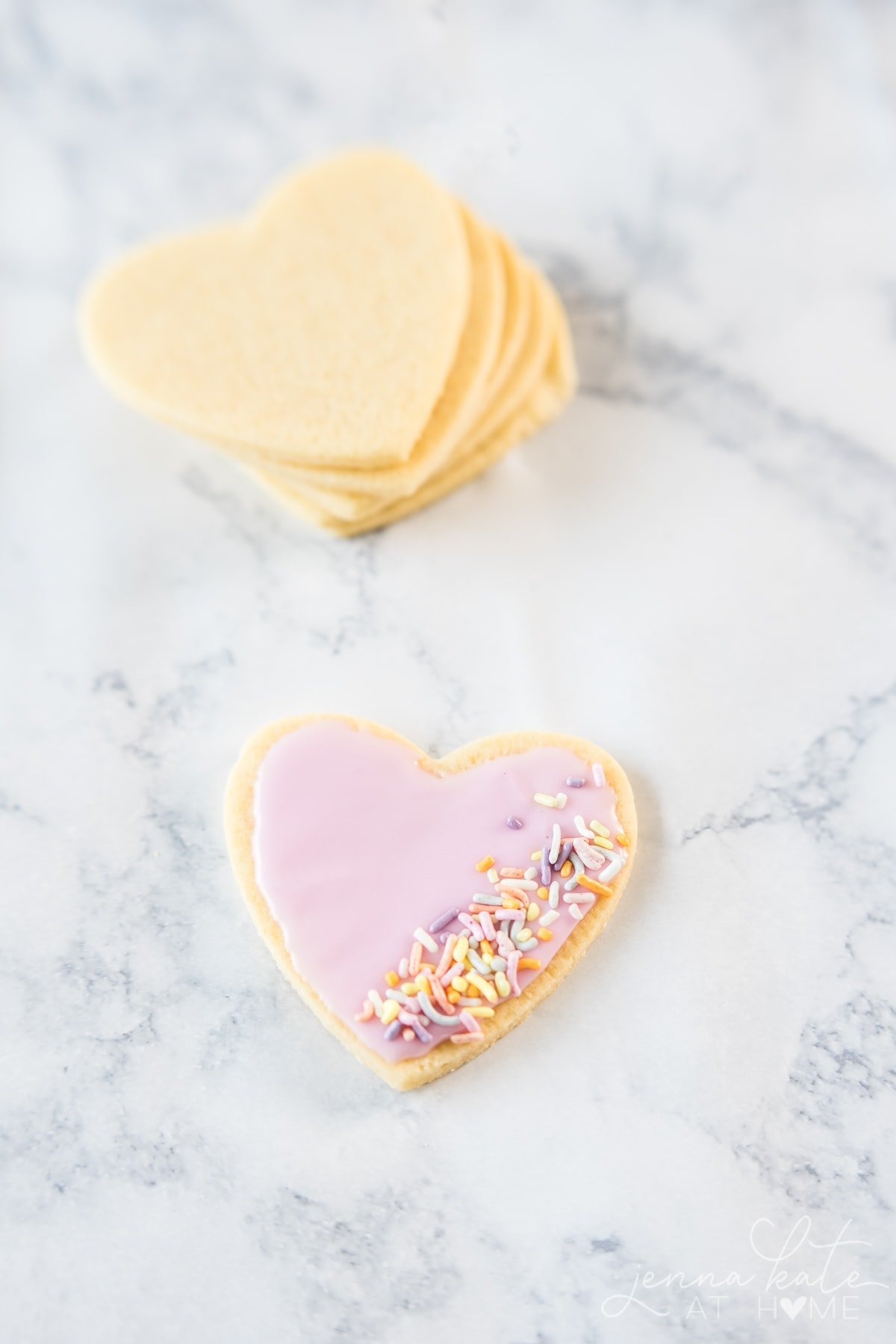 Frosted cut out sugar cookies