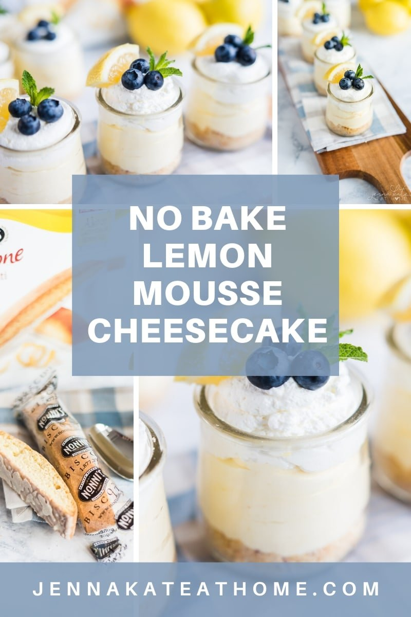 Easy No Bake Lemon Mousse Cheesecake made with homemade lemon curd