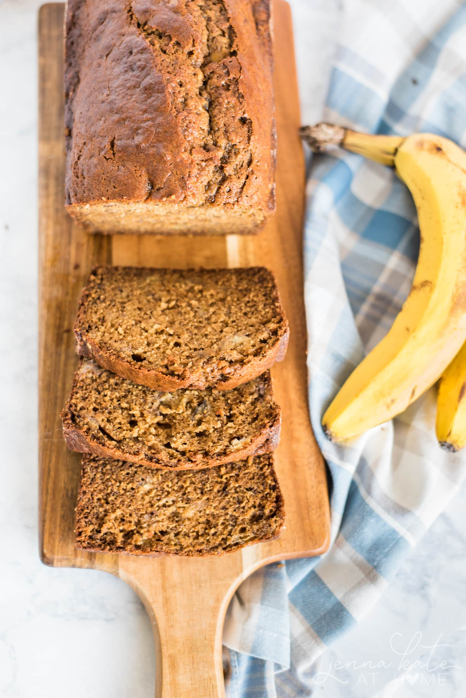 The world's best banana bread made with sour cream or creme fraiche