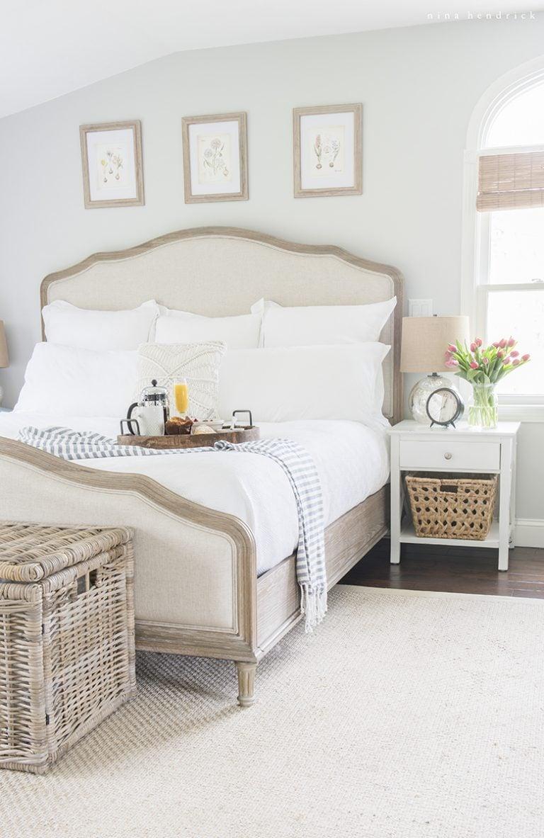 Benjamin Moore Wickham Gray Bedroom