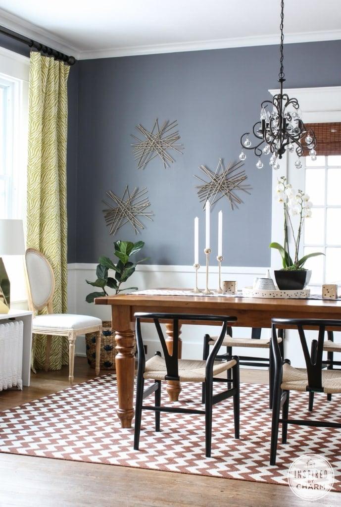 Benjamin Moore Dior Gray in the dining room