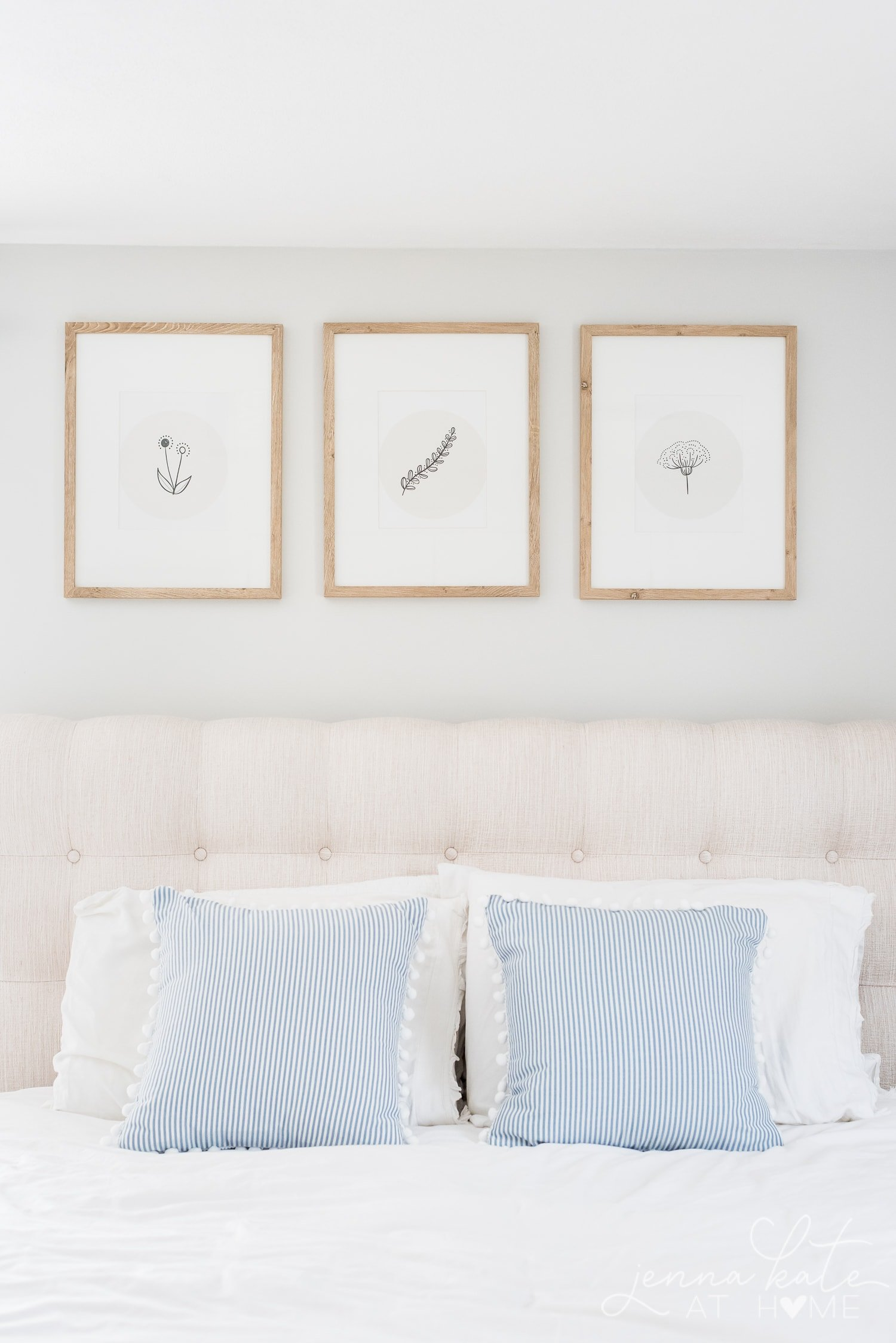 free printable flower wall art over bed