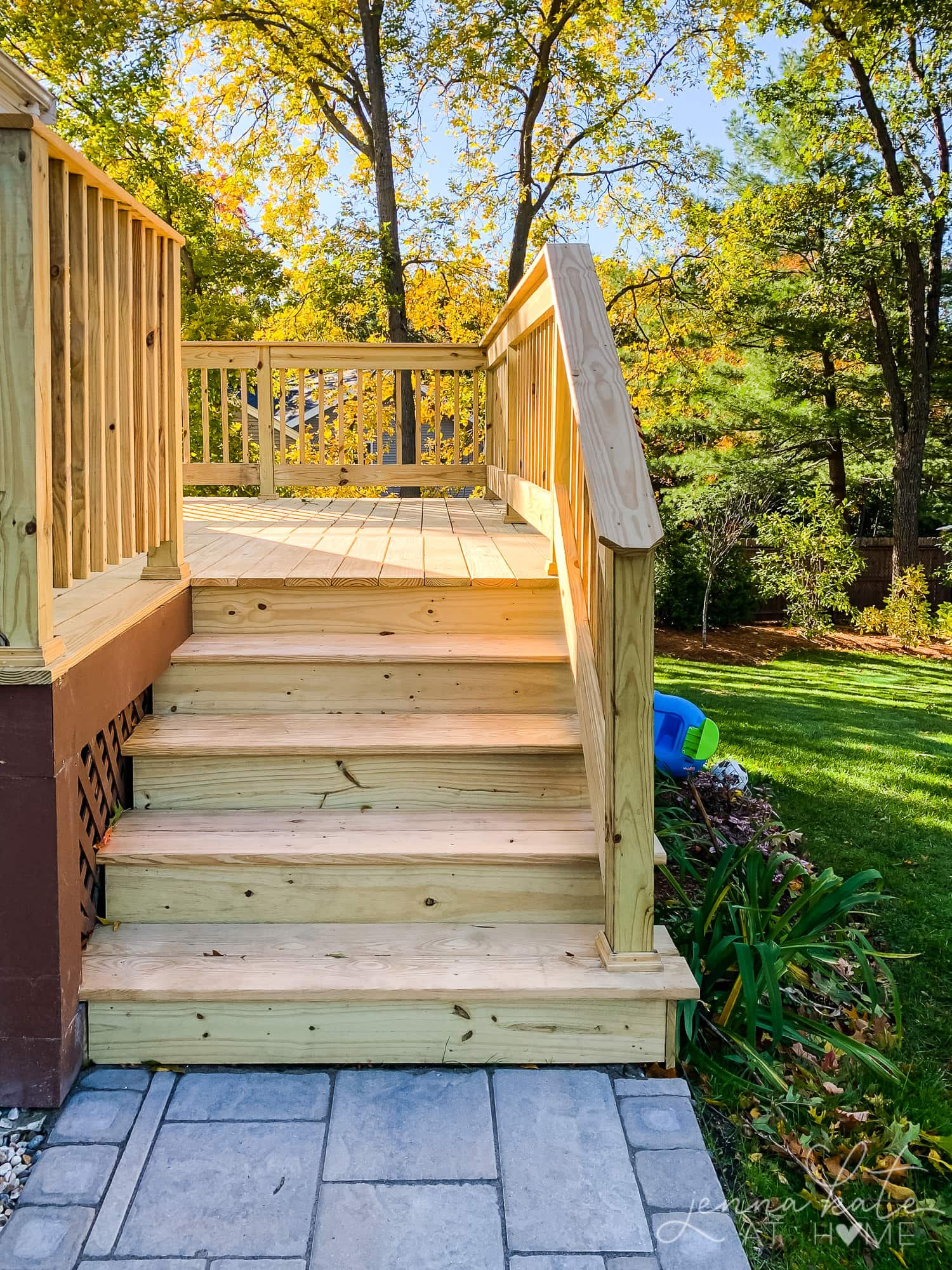 New stairs on deck