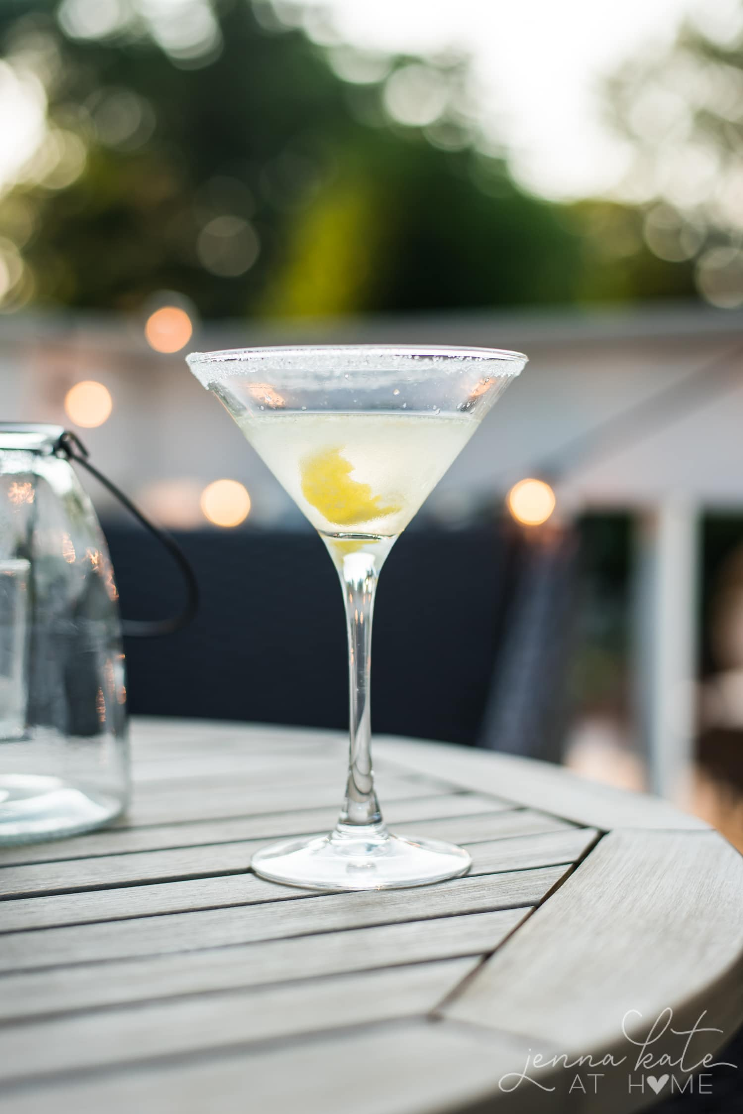 Close up of the martini in the glass