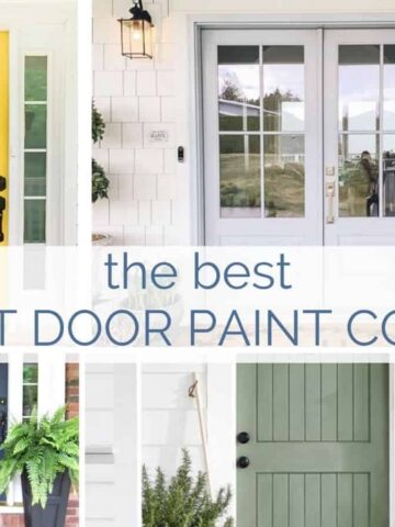 Inject color and personality into your curb appeal with these front door paint colors.