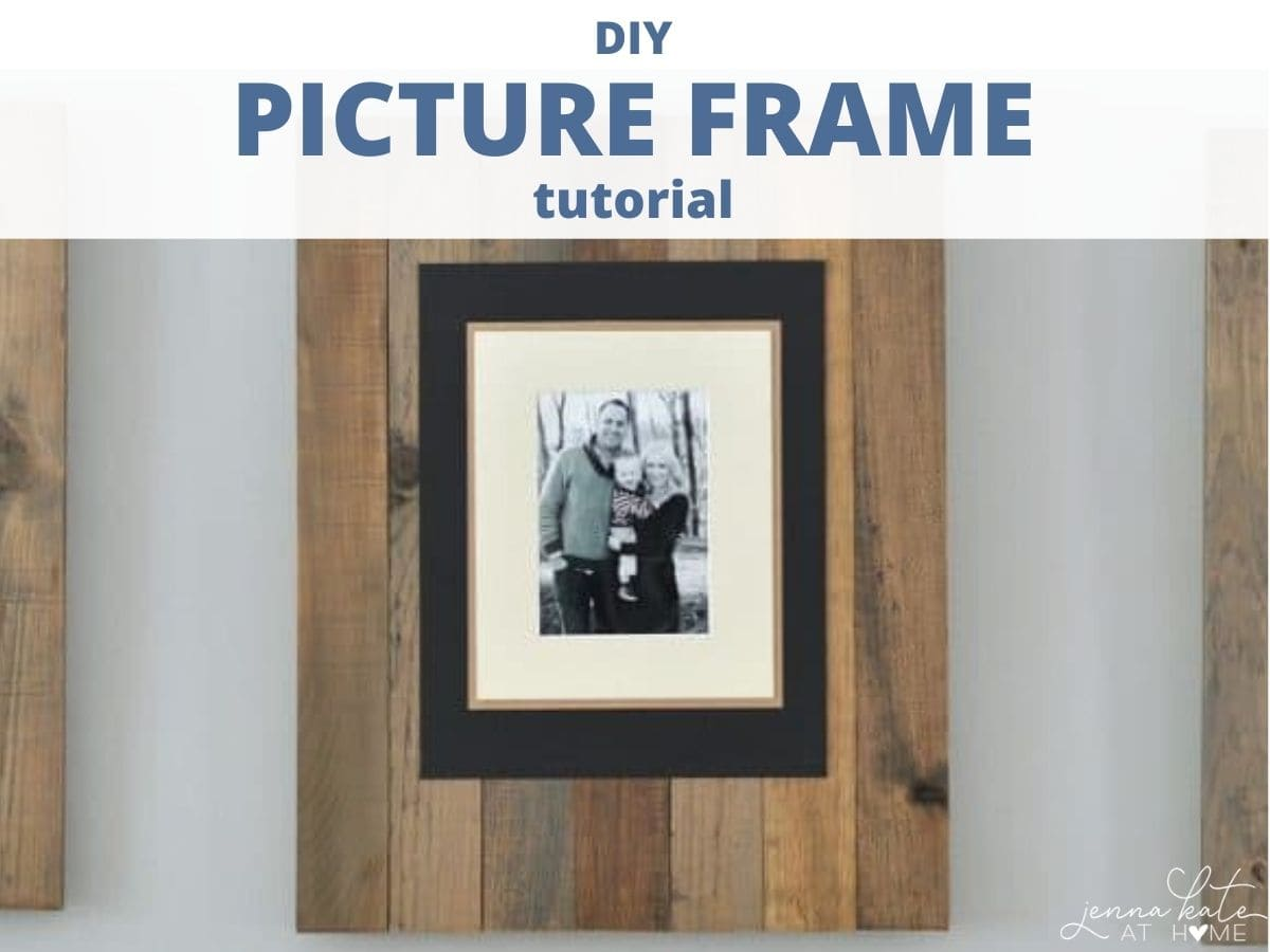homemade wooden picture frame