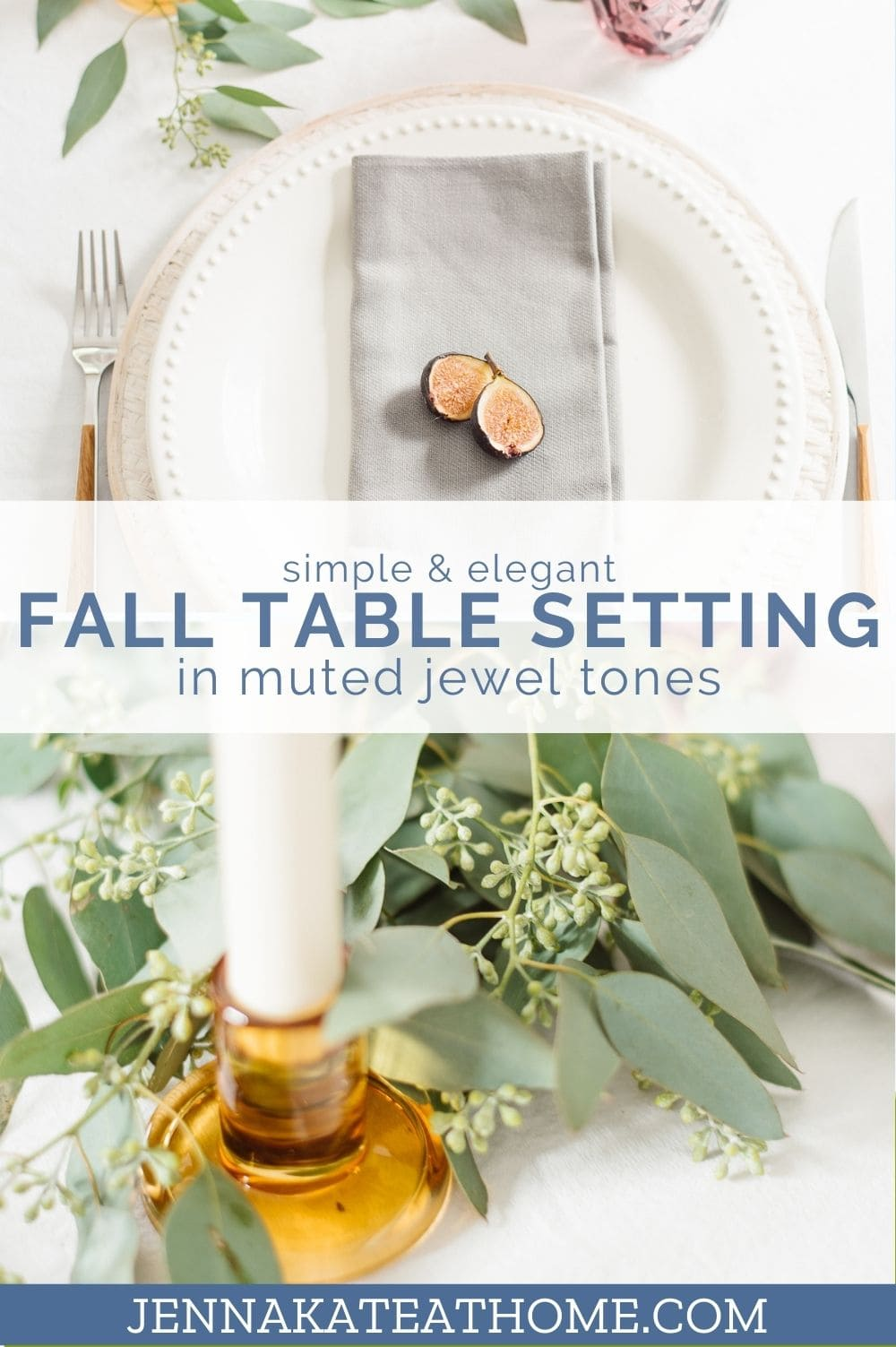 elegant fall table setting