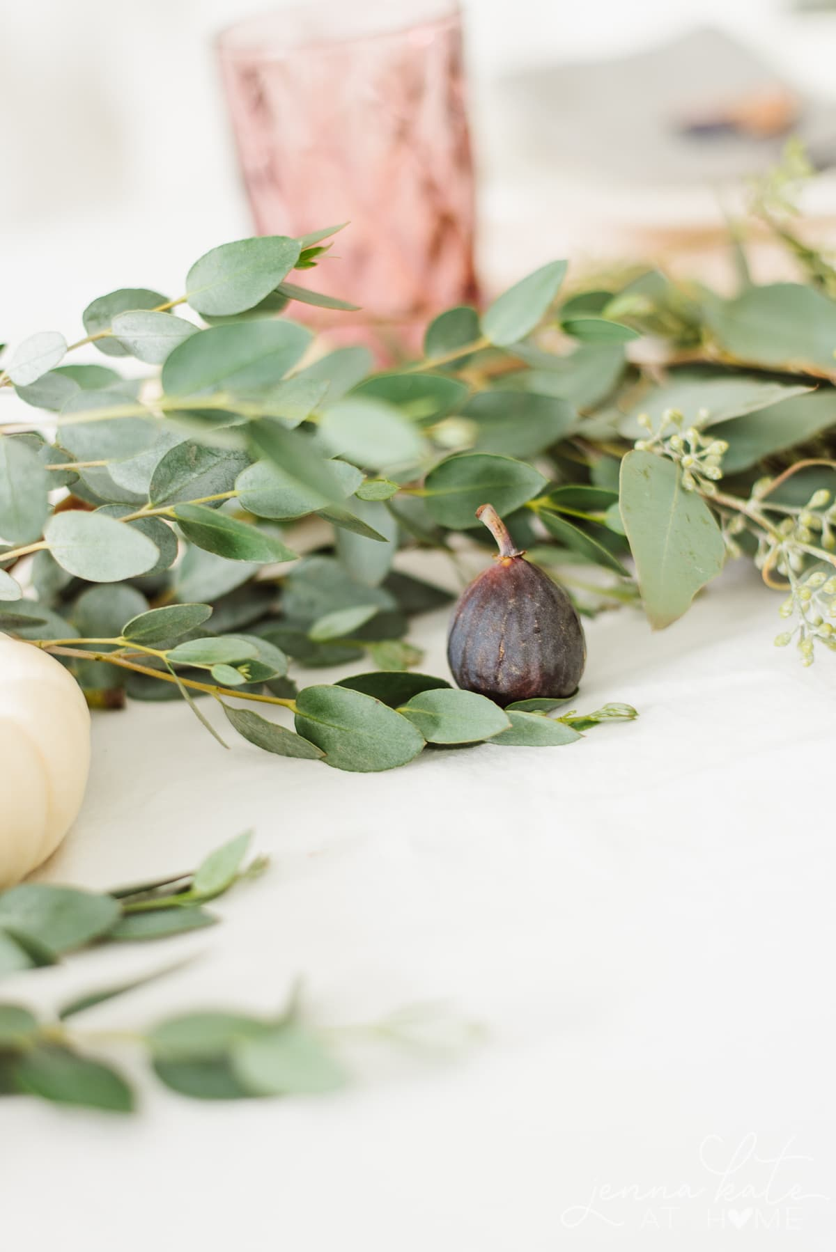 Figs as part of a Thanksgiving centerpiece