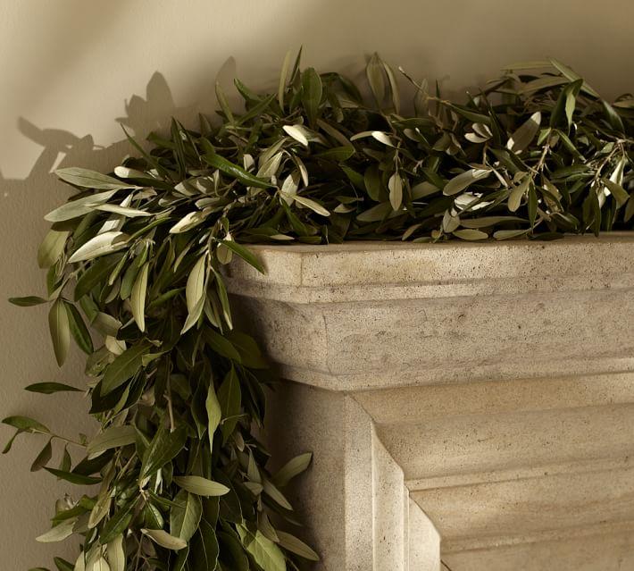 olive leaf and myrtle christmas garland