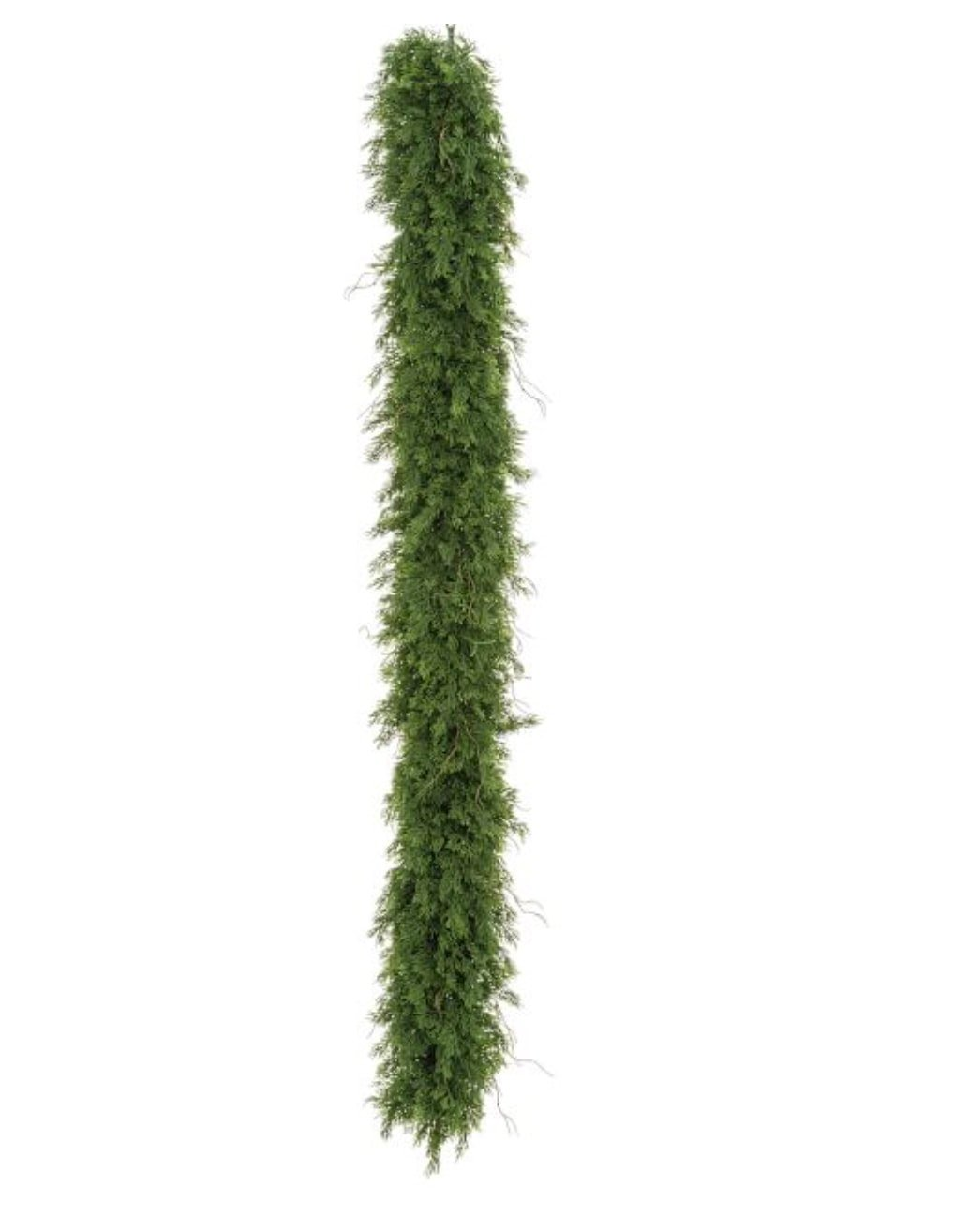 Artificial cedar garland