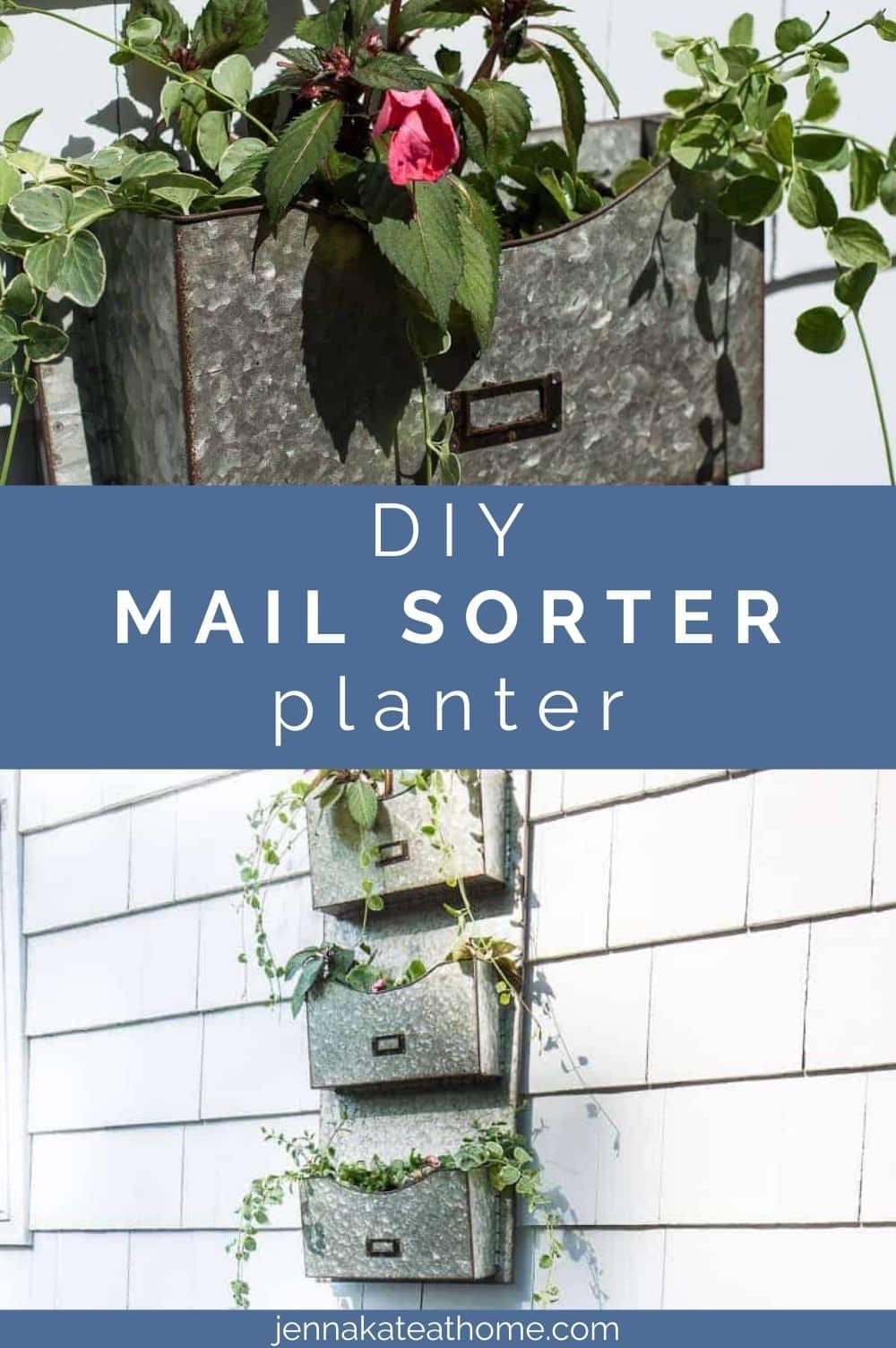 DIY mail sorter planter pin