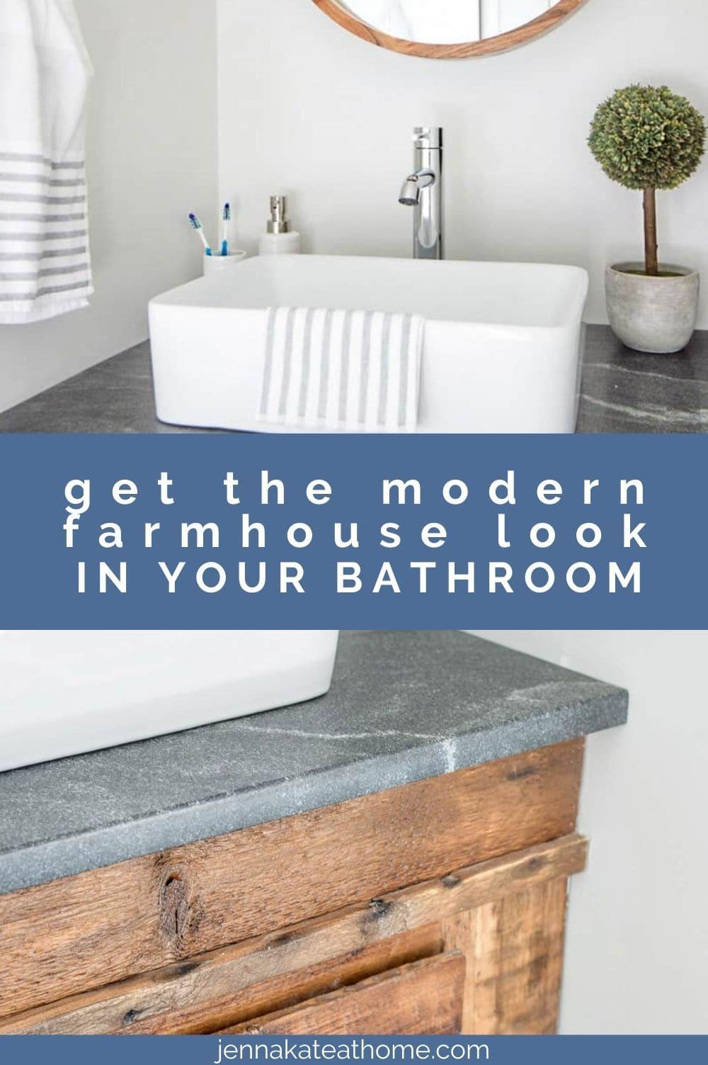 modern farmhouse bathroom pin