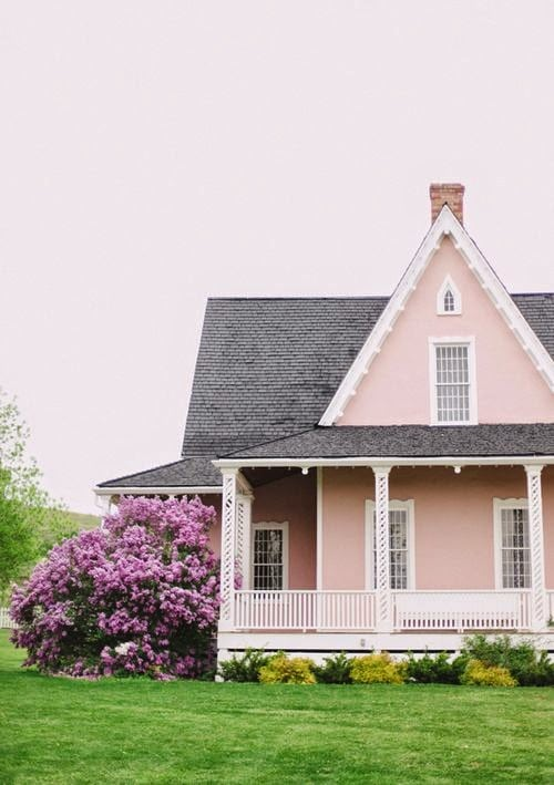 victorian style house painted benjamin moore authentic pink