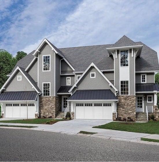 modern style house painted benjamin moore chelsea gray