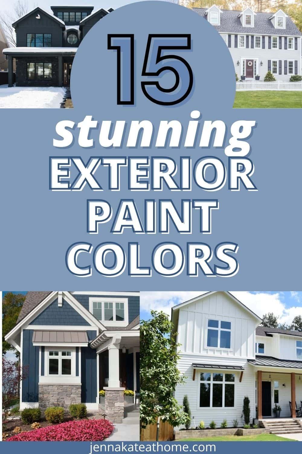 15 stunning exterior paint colors pin
