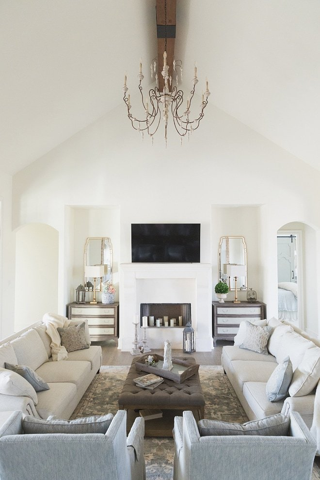 living room painted sherwin williams alabaster