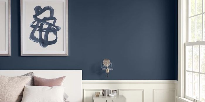 sherwin williams naval with white board and batten
