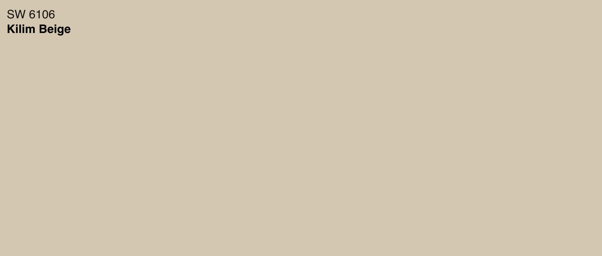 paint swatch of sherwin williams kilim beige
