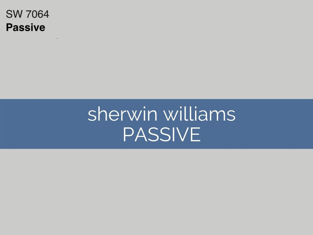 sherwin williams passive swatch with text overlay
