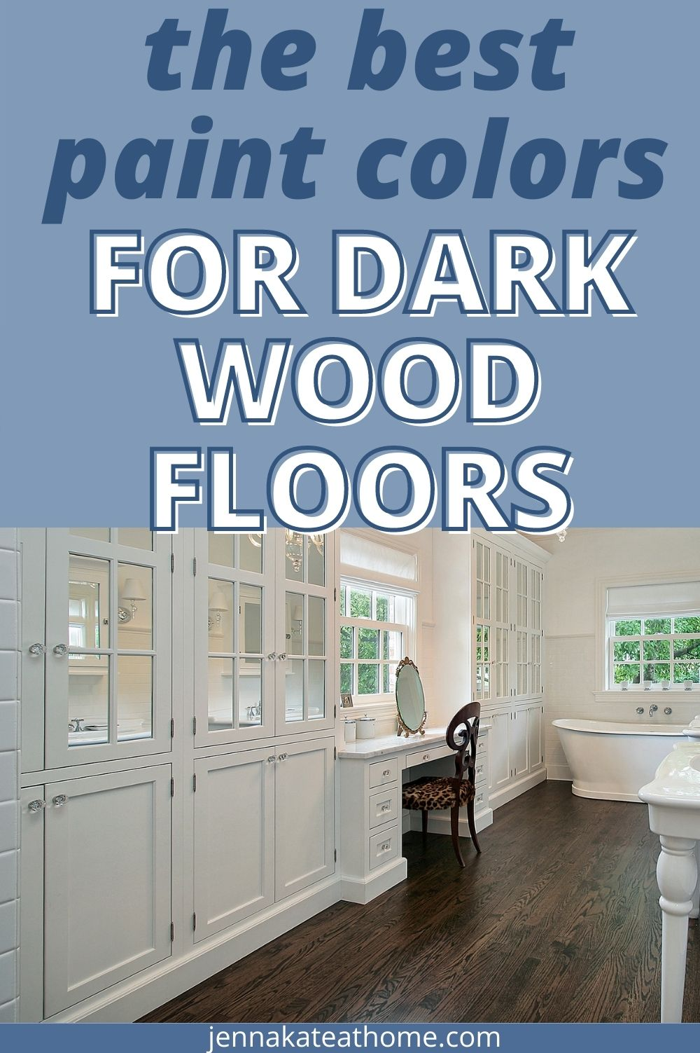 the best wall colors for dark wood floors pin