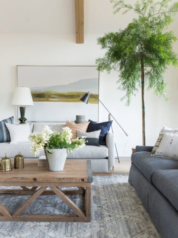 decorate wall over couch with large artwork