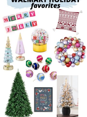 walmart holiday products collage